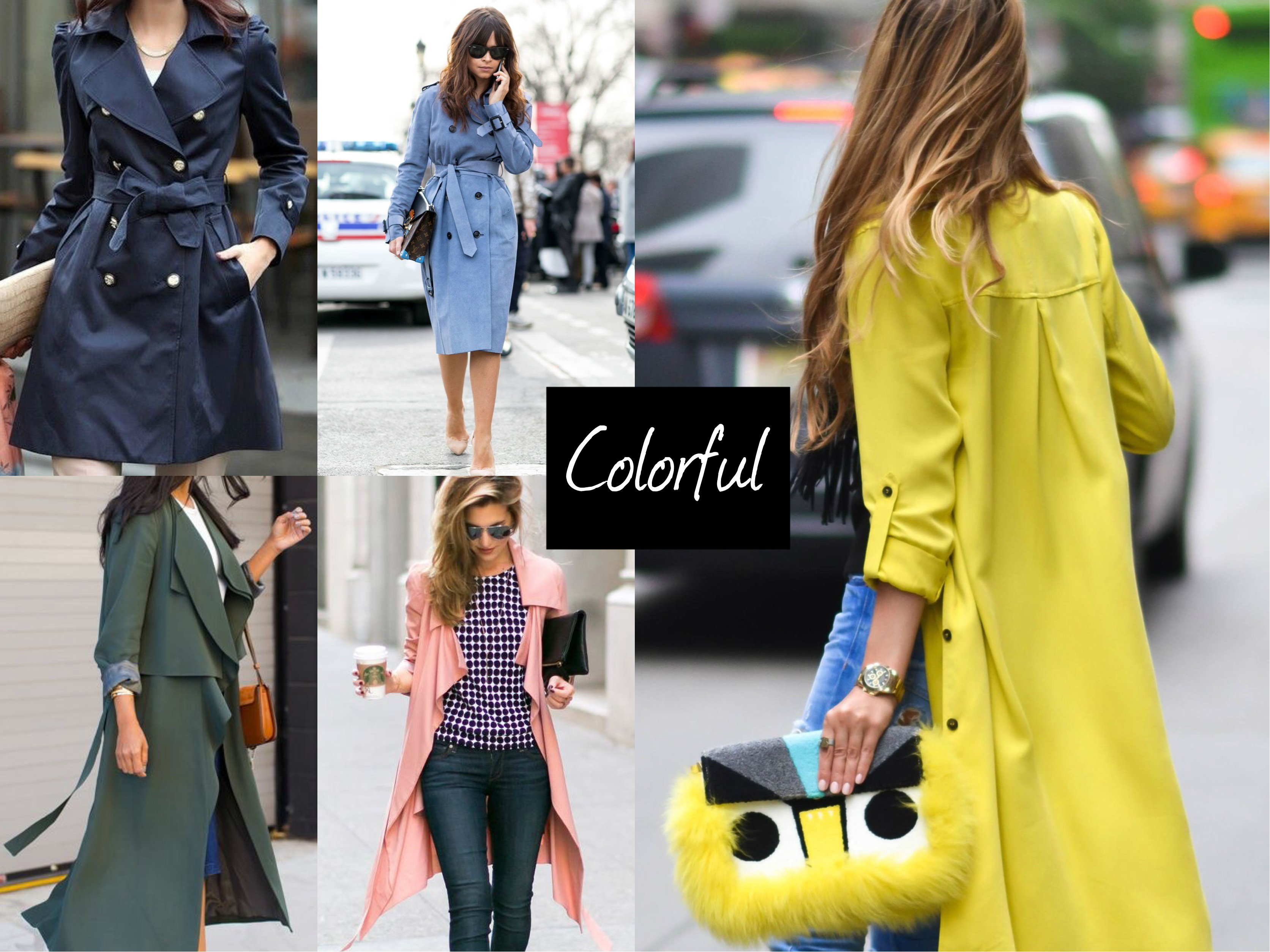 trench coat colorful